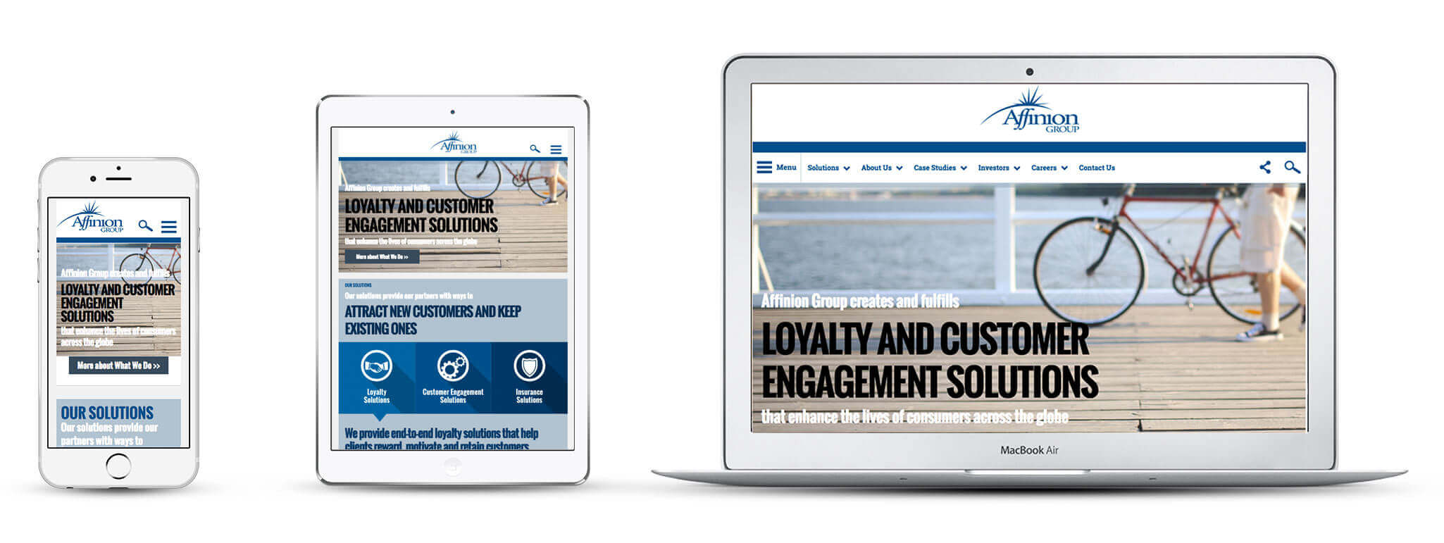 Echidna Affinion Website Design Across Devices
