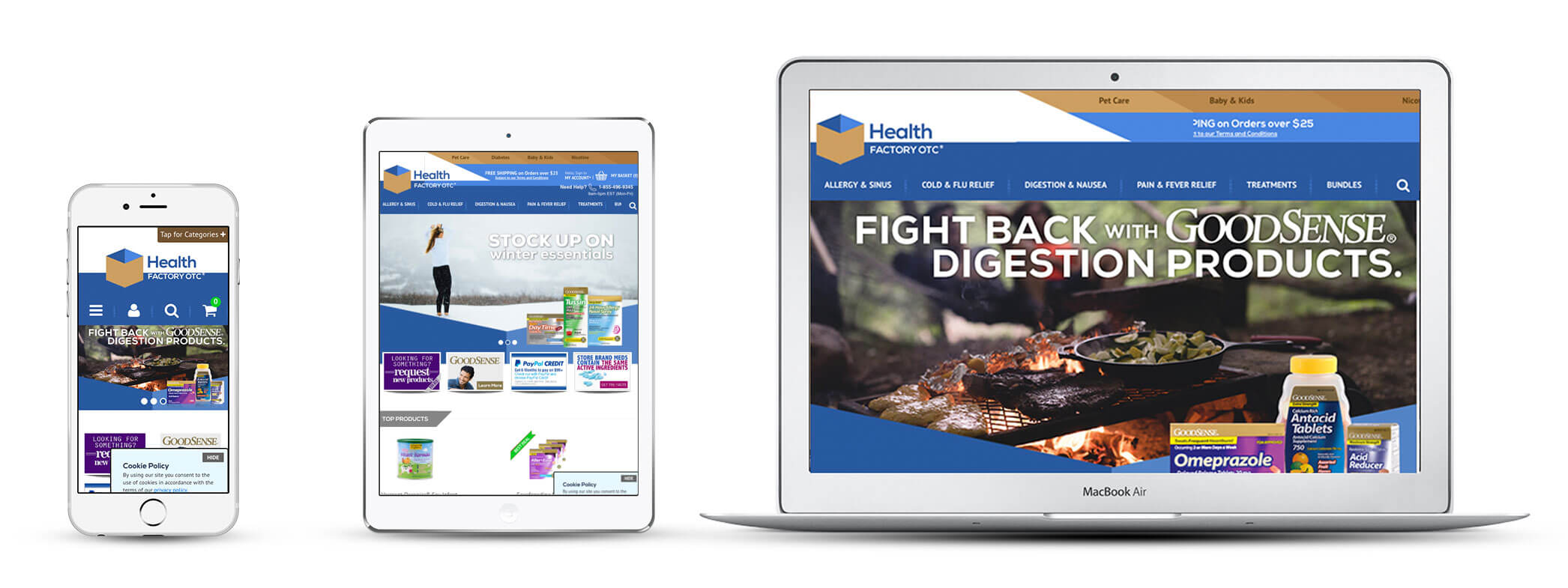 Echidna Health Factoryotc Website Design Across Devices