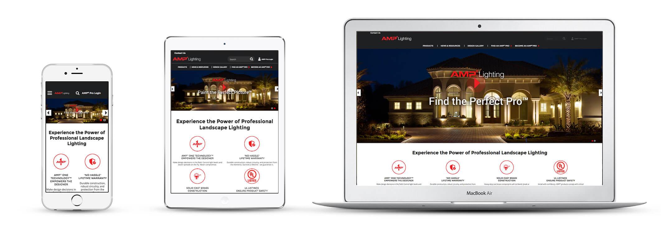 Echidna Amp Lighting Website Design Across Devices