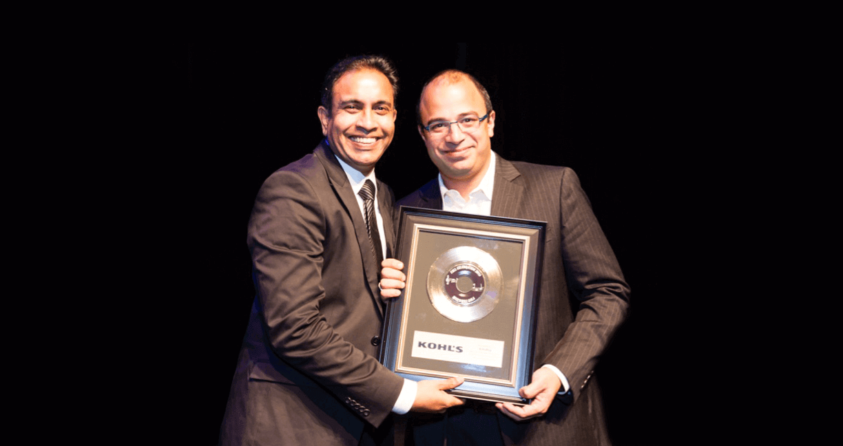 Anubhav Raina, COO of Echidna, receiving the award. Kohl's is the second largest department store by retail sales in the United States and number 19 in the Internet Retailer 2016 Top 500 Guide.