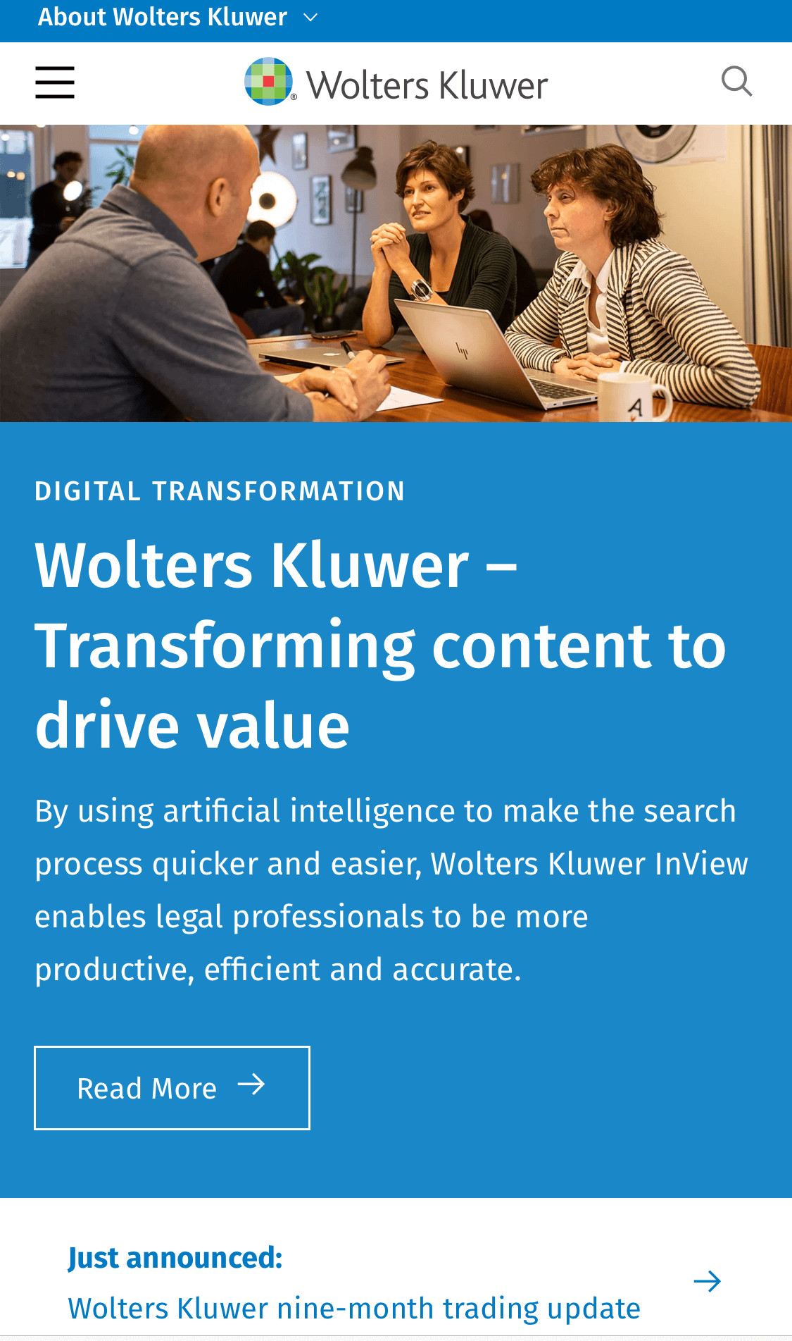 wolters kluwer mobile commerce